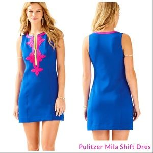 Lilly pulitzer mila blue current dress Large nwot